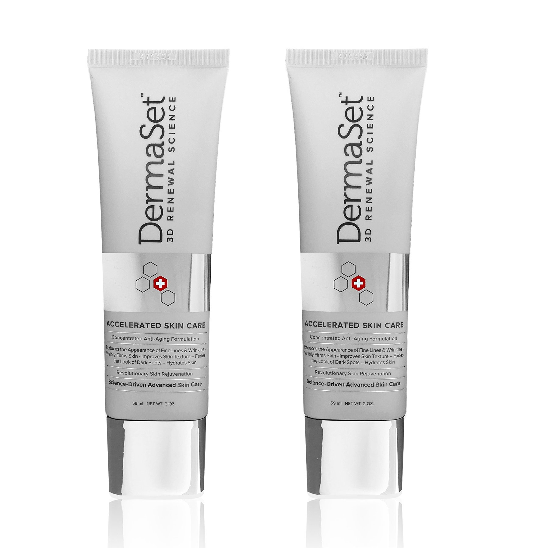 DermaSet Anti-Aging 3D Renewal Cream - Clinically Tested and Hypoallergenic Formula (2 Pack)