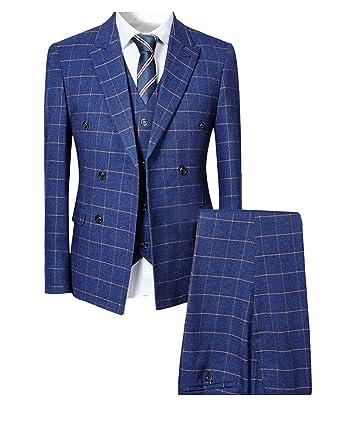 buy online eb8c4 168b8 Cloudstyle Herren taillierter Anzug 3-Teilig Slim Fit für Hochzeit und Party