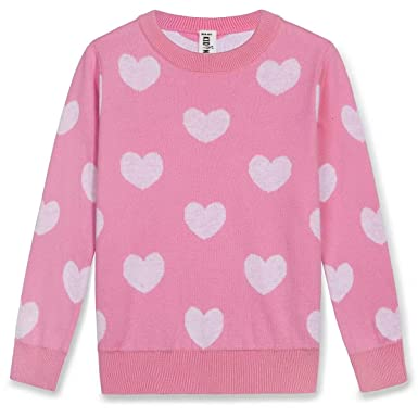 a7ce78065 Amazon.com  Kid Nation Girls  Sweater Long Sleeve Crew Neck Cotton ...