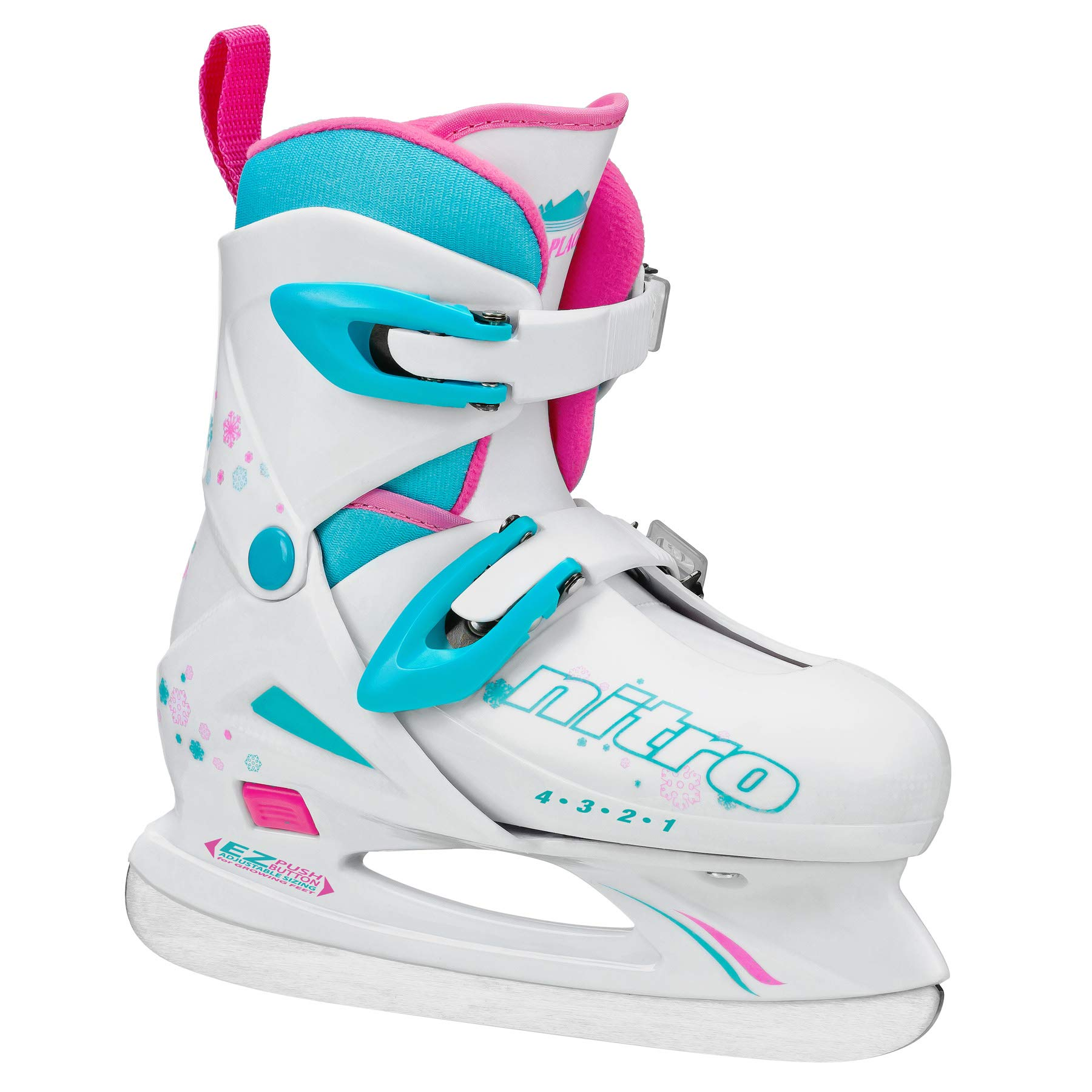 Lake Placid Girls Nitro 8.8 Adjustable Ice Skates