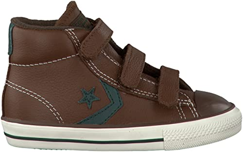 Converse Star Player 3 V Leather Mid Unisex Children s Sneaker Brown Size   ... edacbb269