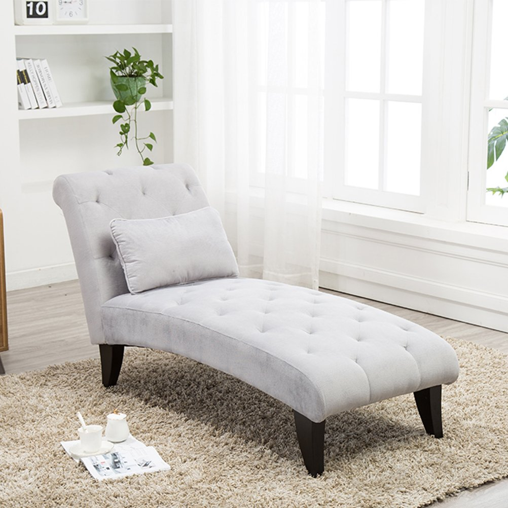 Amazon.com: Tongli Chaise Lounge Button Tufted Sofa Chair Couch for ...