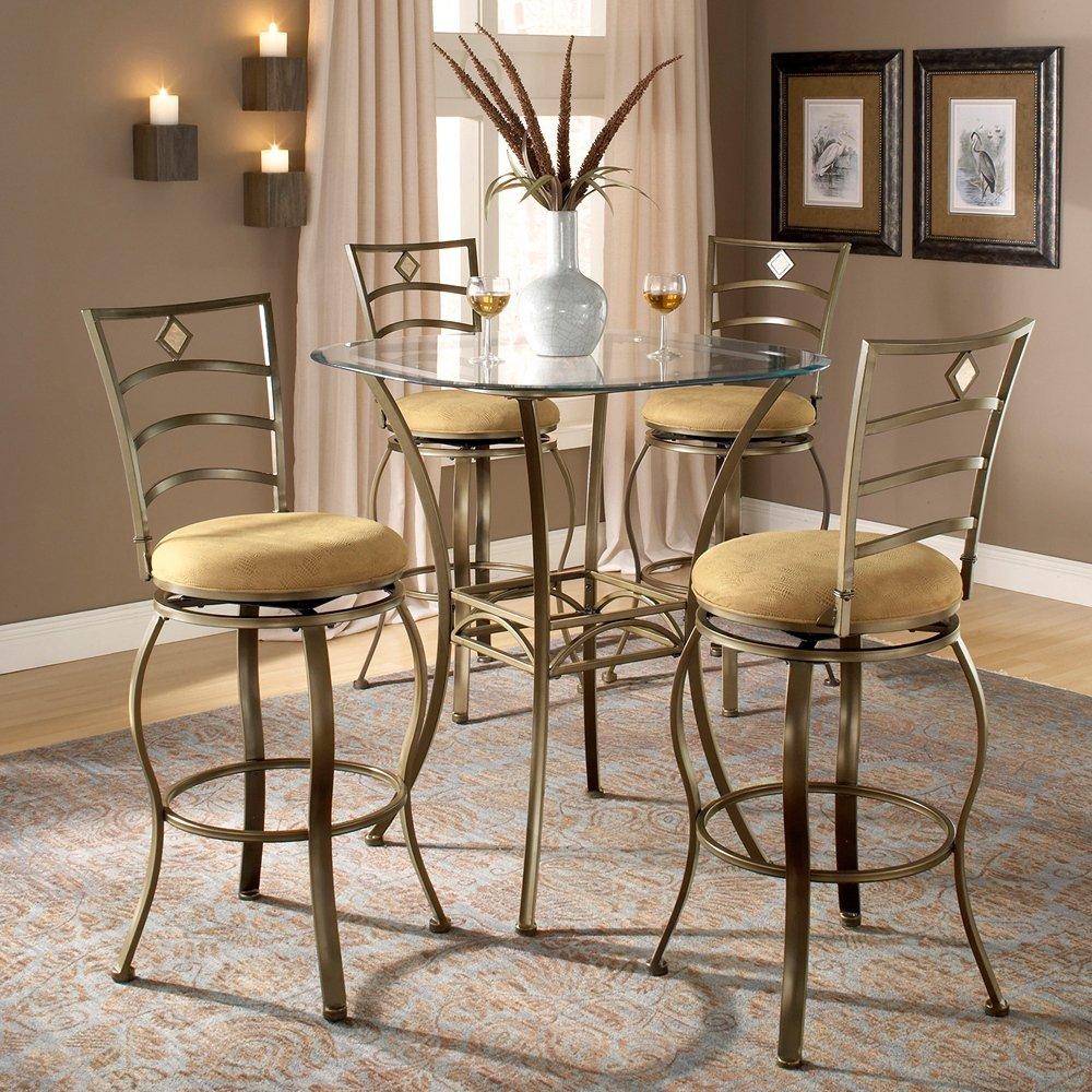 amazoncom hillsdale brookside  piece bar height bistro table  - amazoncom hillsdale brookside  piece bar height bistro table set withmarin stools kitchen  dining