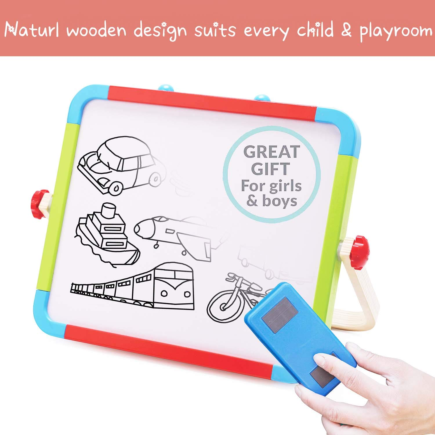 Magnetic Whiteboard /& Chalkboard Dry Erase Markers Classroom Home Education Toys Megnets Alphabet Letters and Numbers Learning Set Magnetic Letters and Numbers with Easel for Kids//Toddlers