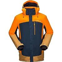 Orolay Mens Waterproof Fleece Ski Jacket Windproof Mountain Rain Jackets with Hood