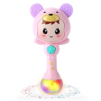 Toys For Infants >> Slhfpx Lofee Rattle Toy Infants 3 6 Months Musical Toy For 3 12 Months Baby Toy For 6 12 Months Girl Gift For 0 6 Months Boy Birthday Gift For Infant
