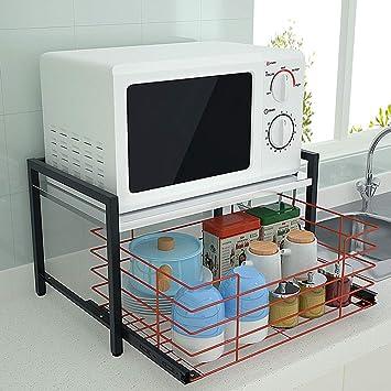 Amazon.com: Estante para horno de microondas, soporte de ...