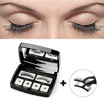 83d55d1c6b5 DEIKAL Magnetic Eyelashes Natural Look - 3D False Eyelashes For Makeup  Eyelashes Extension - Easy to