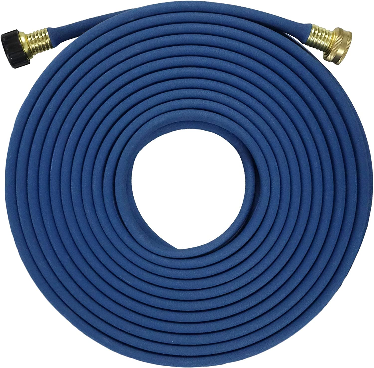 FLORIAX Garden Flat Soaker Hose 1/2 in x 50 ft, More Water Leakage, Heavy Duty, Metal Hose Connector Ends, Save 80% Water Great for Flower beds, Seedling, Landscaping