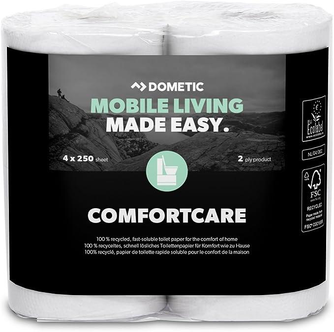 Dometic Comfortcare Spezielles Schnell Lösliches Toilettenpapier Für Die Camping Toilette 4 Rollen Auto