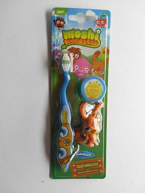 Nueva marca de Moshi Monsters suave cepillo de dientes con tapa Buddy – Cepillo de dientes