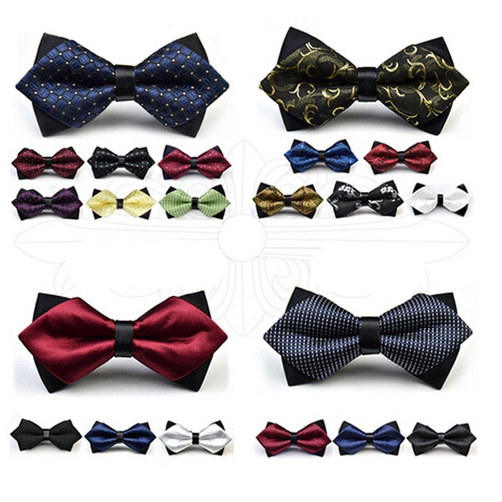 Mens Classic Pre-Tied Formal Tuxedo Bow Tie Wedding Ties Necktie NO.8