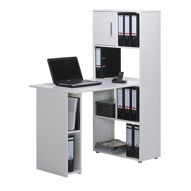 Eckschreibtisch für 2 personen  Minioffice Schreibtisch-Regalkombination Bürokombination Office ...