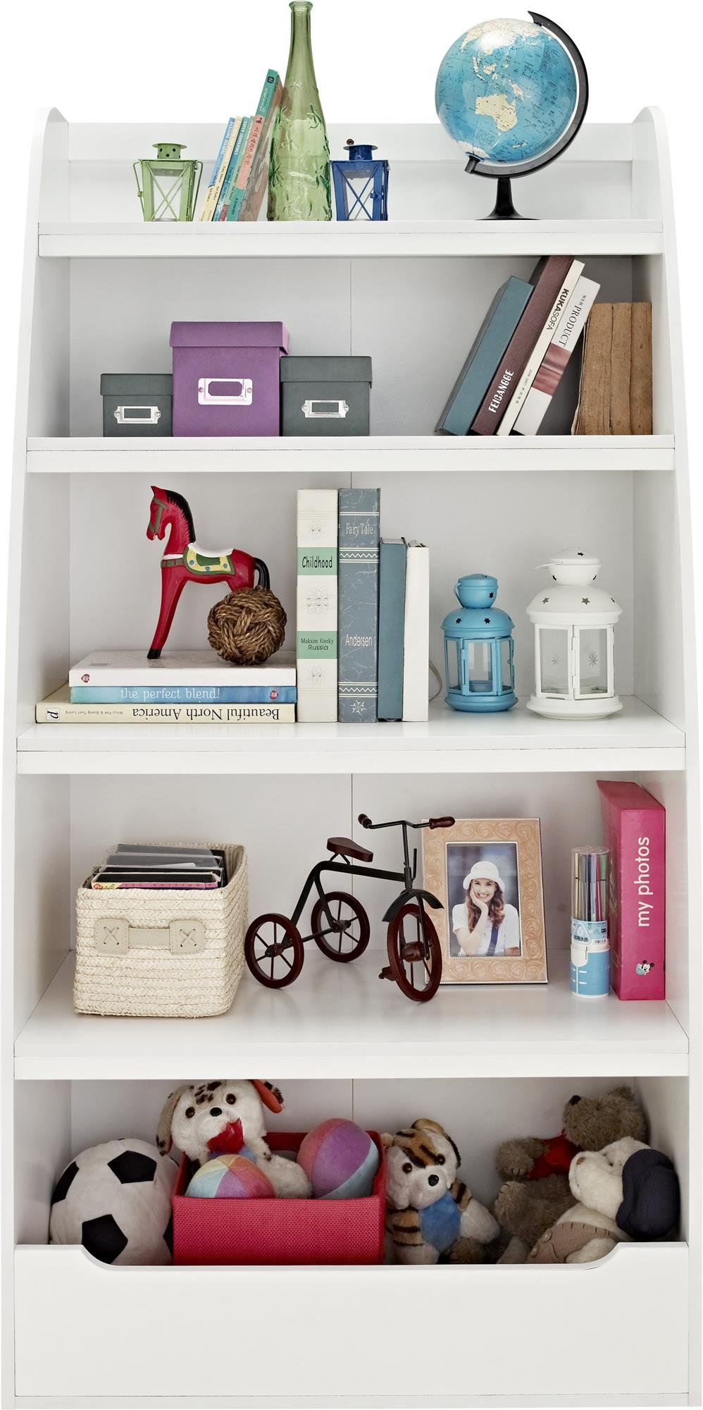 Ameriwood Home Hazel Kids' 4 Shelf Bookcase, White by Ameriwood Home (Image #3)