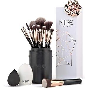 ff3d0d9270927 Niré Beauty Makeup Brush Set  Make up Brushes with Brush Case