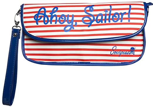Amazoncom Sourpuss Ahoy Sailor Clutch Purse In Red White And Blue