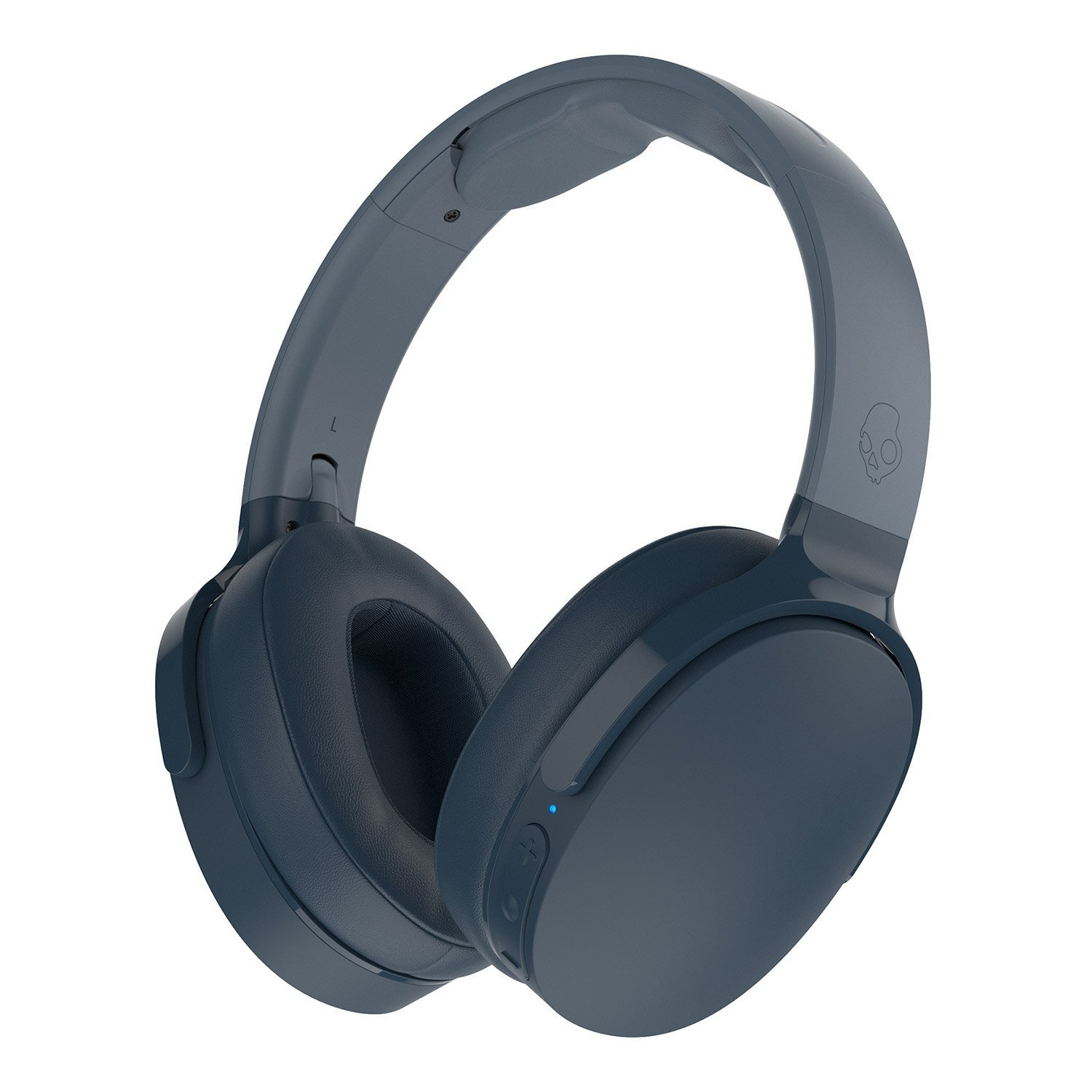 Skullcandy Hesh 3 Foldable Wireless Bluetooth Over-Ear Headphones with Microphone, 22-Hour Battery Life, & Memory Foam Ear Cushions (Blue)