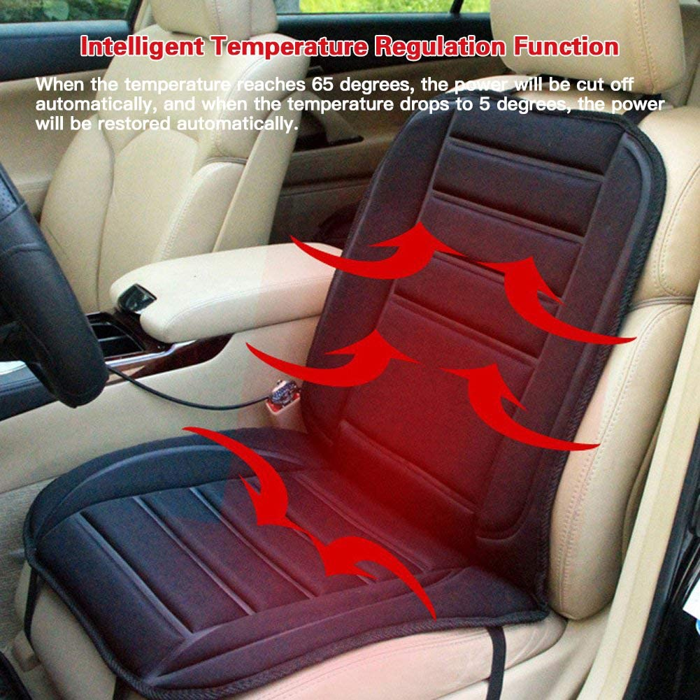 2019 Upgrade Heated Car Seat Cushion Heating and Ventilation Function Perfect for Cold Weather /& Winter Driving /& All-Season Use 12V Portable Car Heating Pad Back Massager