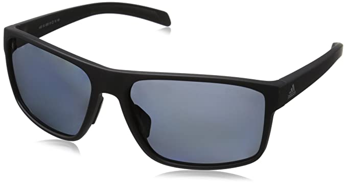 70632ee44c Image Unavailable. Image not available for. Colour  adidas Mens Whipstart  a423 6059 Polarized Rectangular Sunglasses Black Matte ...
