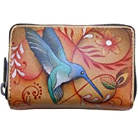 Anuschka Credit Card, Business Card Holder | Genuine Leather, Hand-painted Original Art | Holds 11 cards