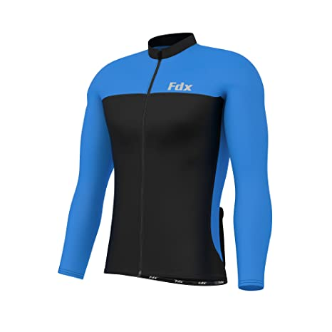 FDX Mens Cycling Jersey Full sleeve Winter Thermal Cold Wear Cycling Jacket