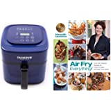 "Nuwave 6 qt Brio Air Fryer-Blue with"" Air Fry Everything"" Cookbook."