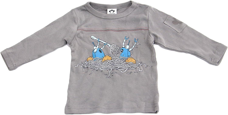Appaman Baby Boys Long Sleeve Robot Dinner Tee