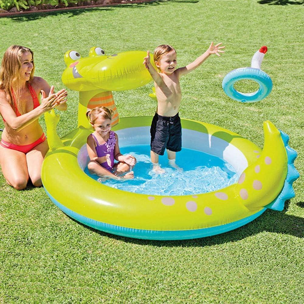 AMWFF - Piscina Hinchable para niños con diseño de cocodrilo, para ...