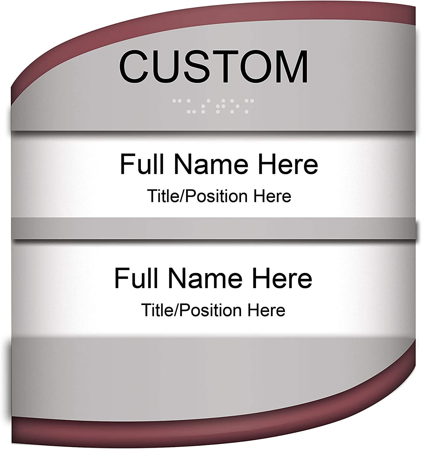 Red /& Black Customizable ADA Compliant Room ID with Changeable Paper Inserts Sign 8x8