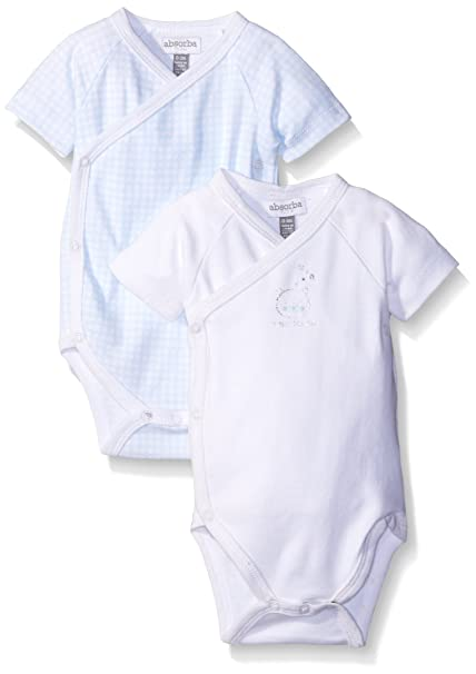1ab1aaa9 Amazon.com: absorba Baby Boys' Two Pack Short Sleeve Body Suit Set ...