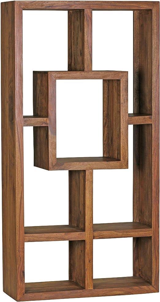 FineBuy Bücherregal Massiv Holz Sheesham 90 x 180 cm