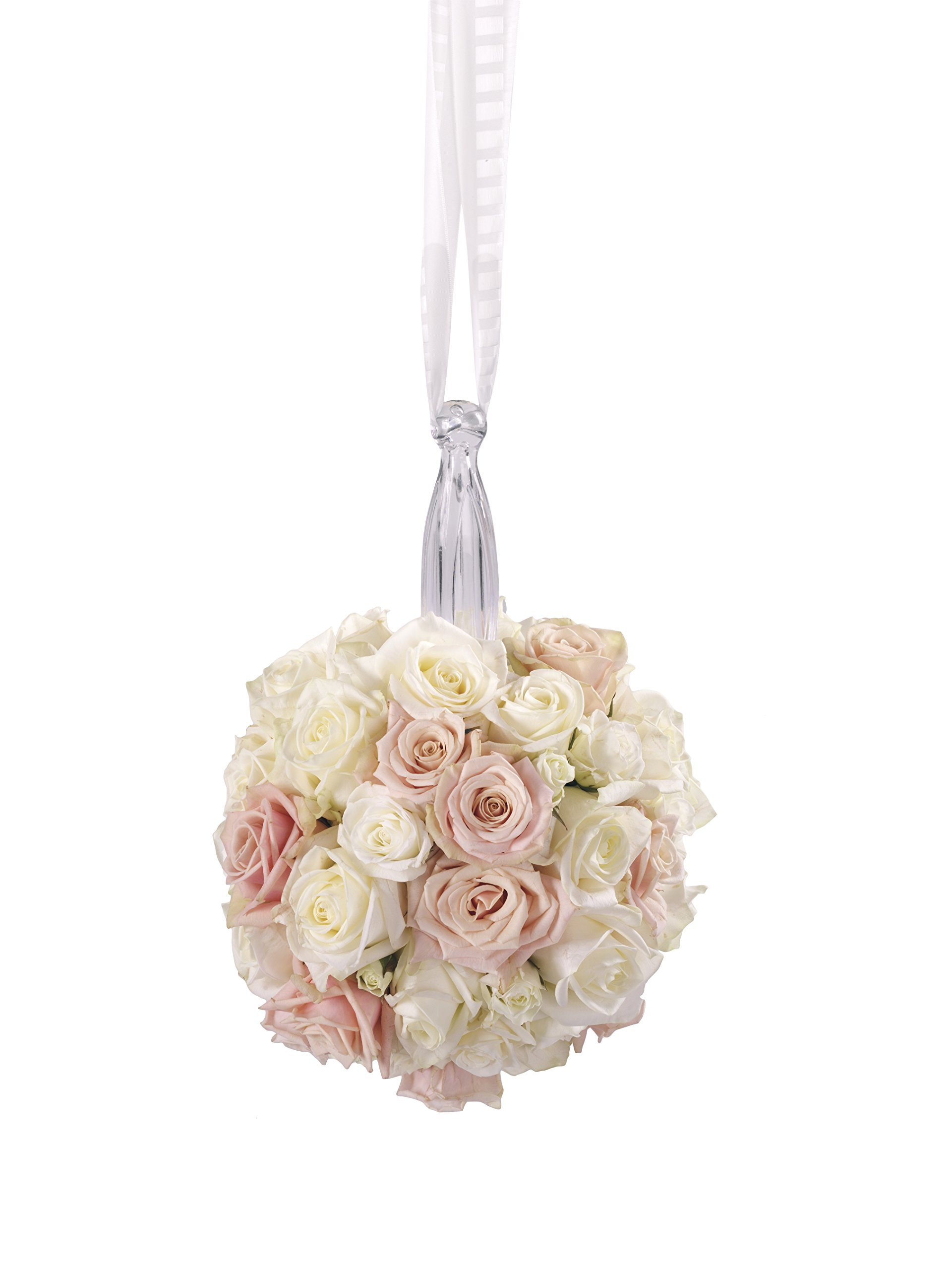 FloraCraft Gala Bouquet Holder with Floral Wet Foam 4.1 Inch x 9.75 Inch Clear Handle
