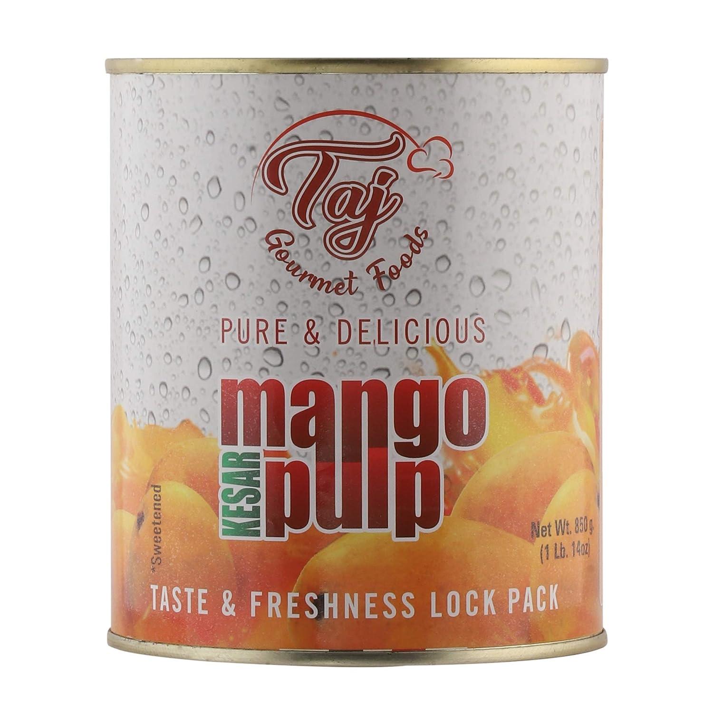 TAJ Gourmet Kesar Mango Pulp, 30-Ounce (1)