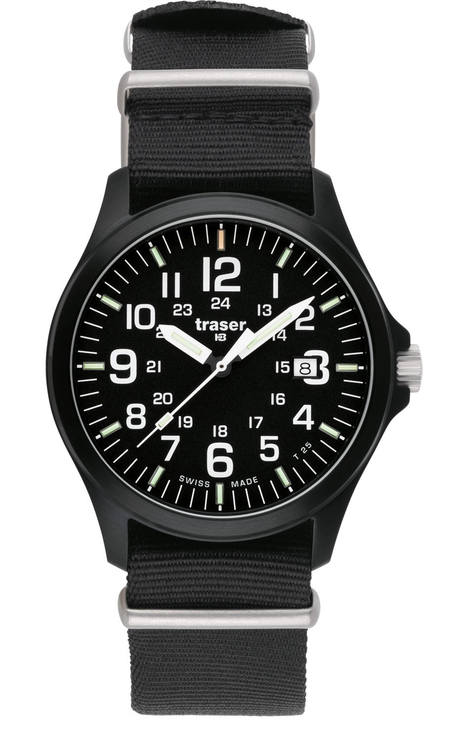 traser H3 Officer Pro Sapphire Watch | Nato Strap - Black by Traser H3 (Image #1)