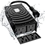 meross Outdoor Smart Plug, Outdoor Wifi Outlet with 2 Grounded Outlets, Remote Control, Timer, Waterproof, Works with Amazon Alexa, Google Assistant and SmartThings, FCC Certified