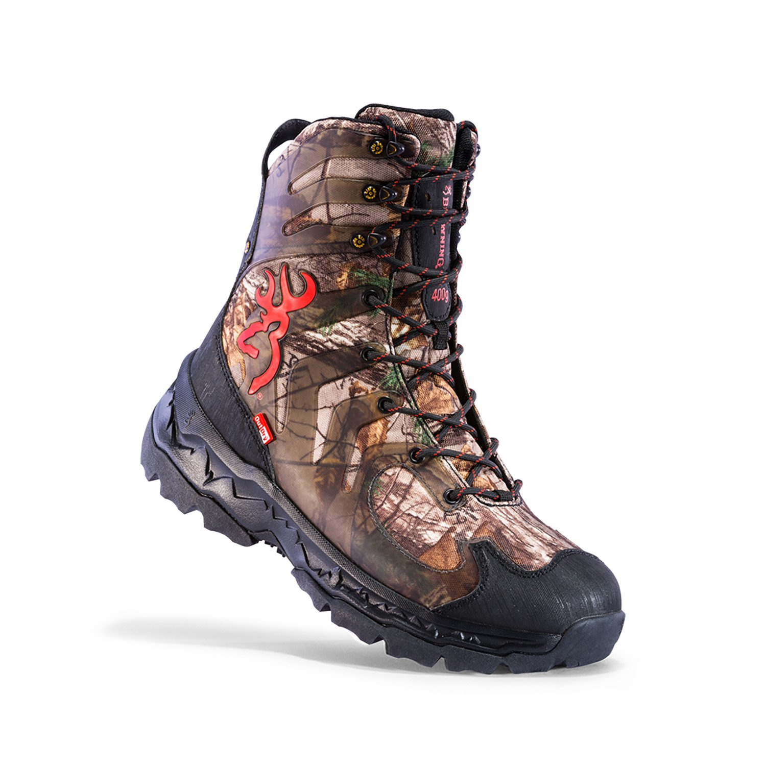 Browning Mens Buck Shadow 8in Big Game Boots, Realtree Xtra/Black, 9M, F000003590130