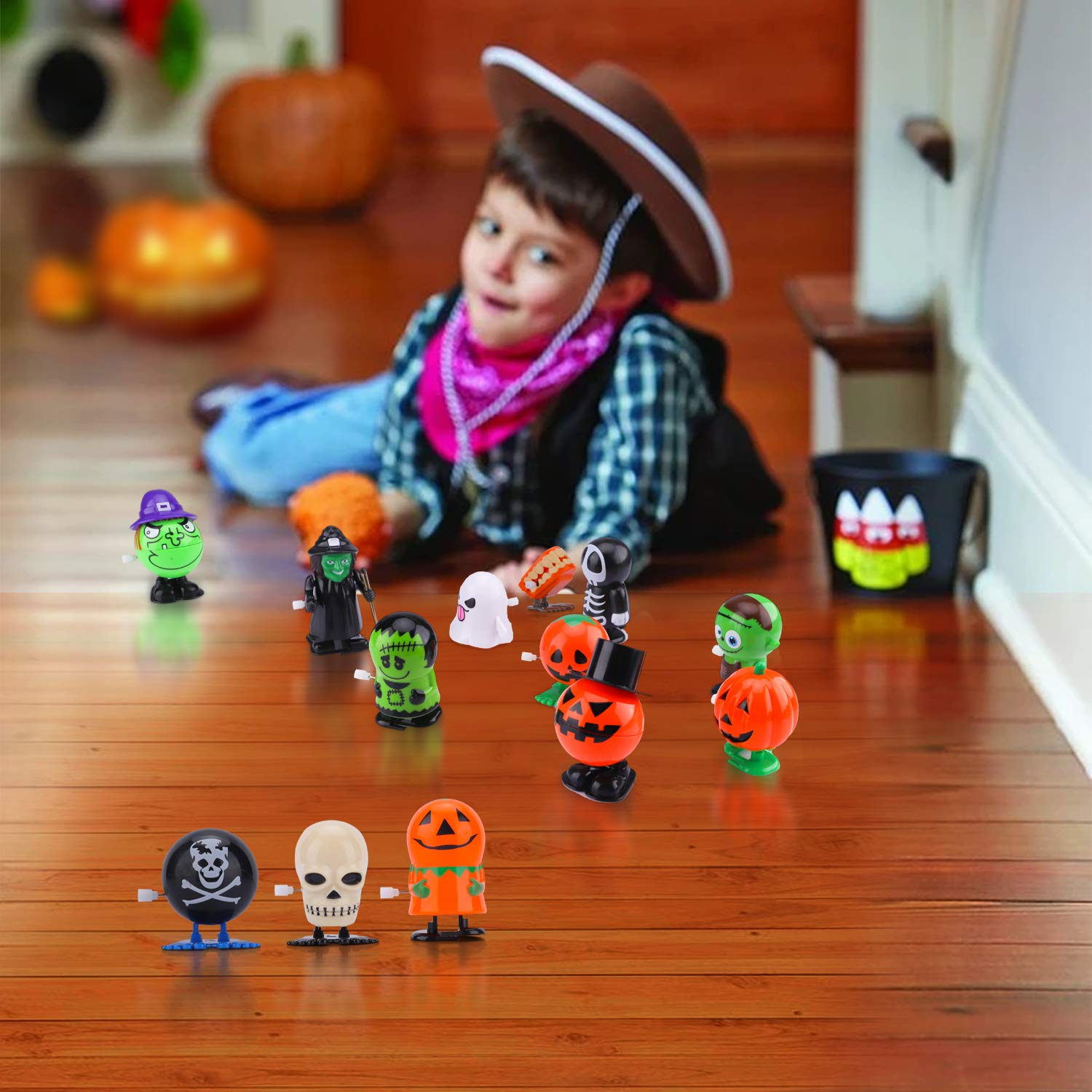 Assorted Clockwork Toys Assortment Goody Bag Filler Supply for Party Favors for Kids VIRIITA 18 Pack Halloween Wind Up Toys