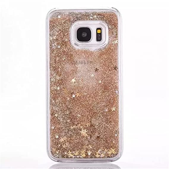 promo code acdf9 423a3 Galaxy S6 Edge Plus Liquid Case,New Sparkle Moving Stars Creative Design  Dynamic Shiny Quicksand Flowing Liquid Floating Luxury Bling Glitter  Plastic ...