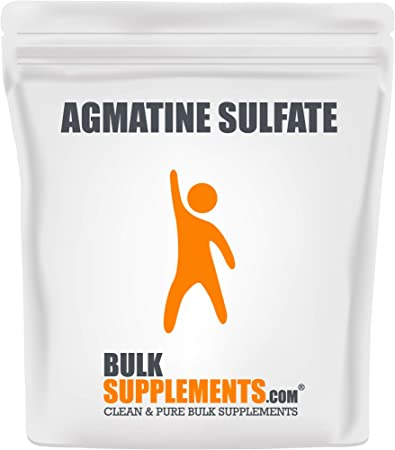 BulkSupplements.com Agmatine Sulfate Powder - Pre-Workout Powder - Nitric Oxide Supplement - Pure Pump Pre-Workout (250 Grams - 333 Serving)