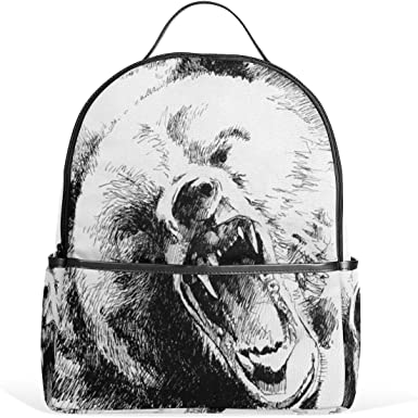 Mr.Weng Snake And Skull Printed Canvas Backpack For Girl and Children
