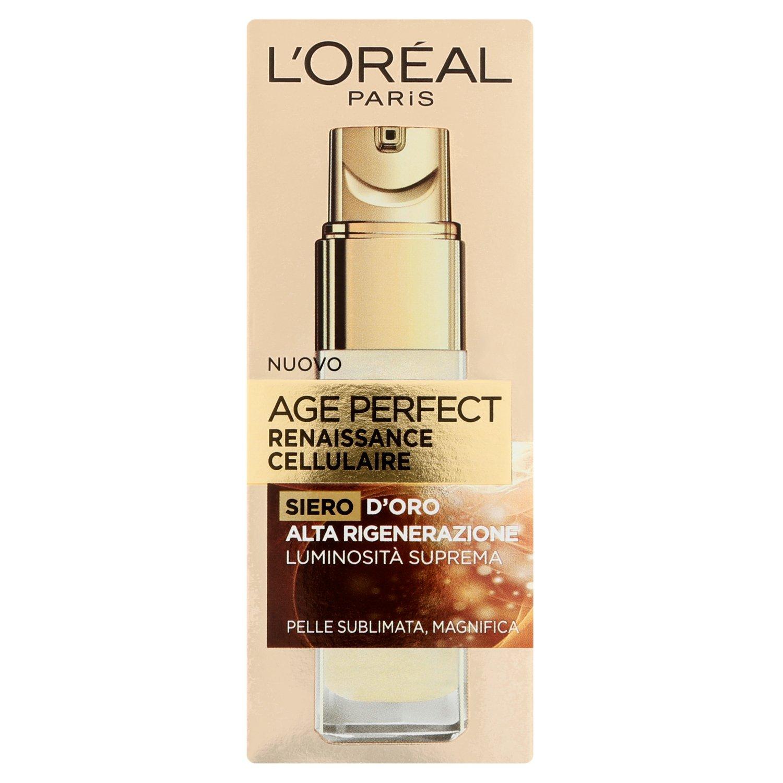 L'Oréal Paris Age Perfect Renaissance Cellulaire Siero Antirughe Illuminante Viso, Pelli Mature, 30 ml A6892000