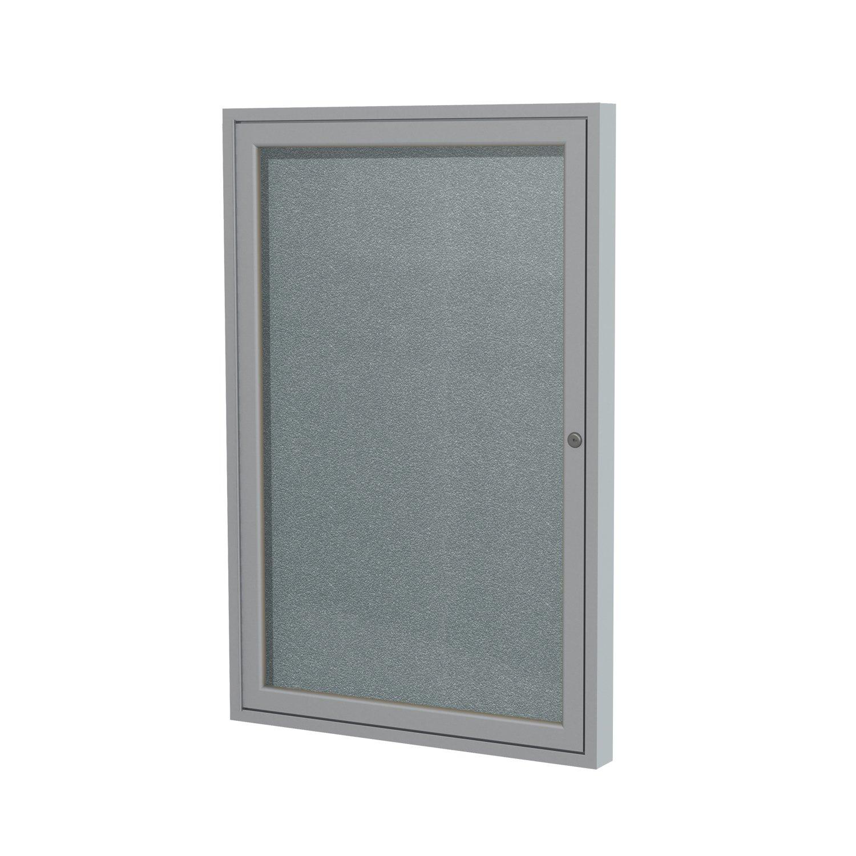 1 Door Outdoor Enclosed Bulletin Board Size: 2' H x 1'6