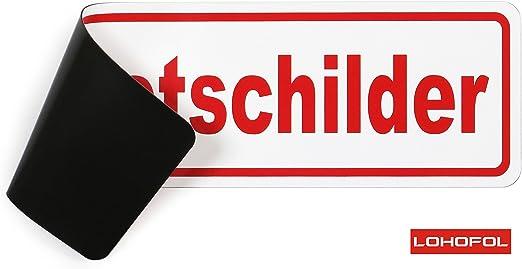 Lohofol Magnetschild Presse Schild Magnetisch Schwarz Weiss Lieferbar In Drei Größen 45 X 13 Cm Auto