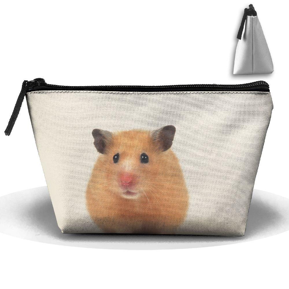 Lovely small hamsterコスメティックバッグ – メイクアップオーガナイザー – 台形ポータブル化粧品旅行バッグ B07CG8M62T