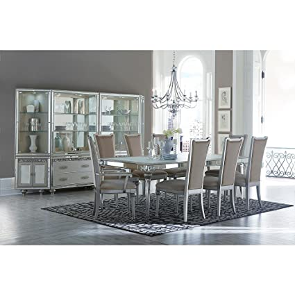 Aico Amini Bel Air Park 9 Piece Dining Set   Table, 2 Arm, 6