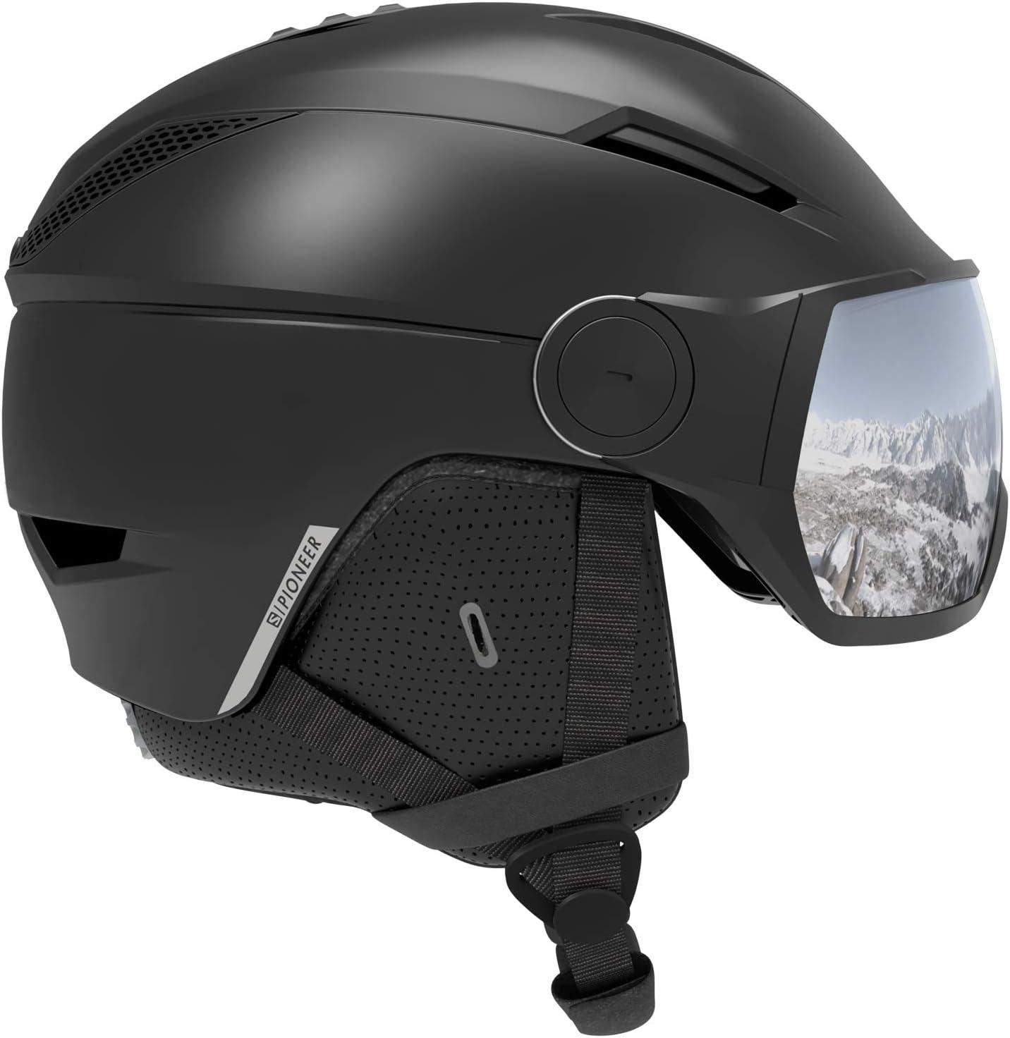 SALOMON(サロモン) スキーヘルメット スノーボードヘルメット PIONEER VISOR (パイオニア バイザー) 2019-20年モデル サイズM~L 黒 Medium
