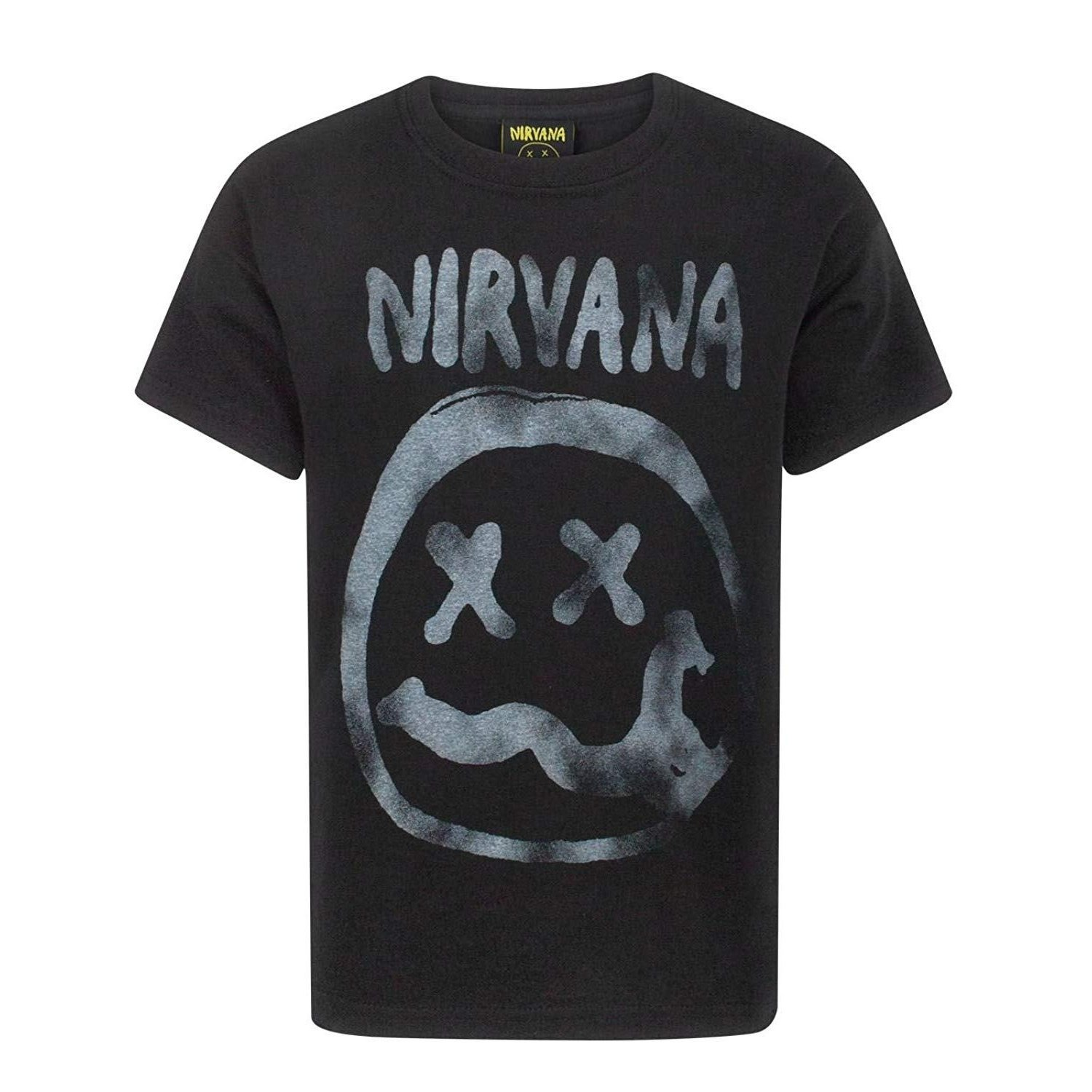 Nirvana Official Boys Smiley Logo T-Shirt