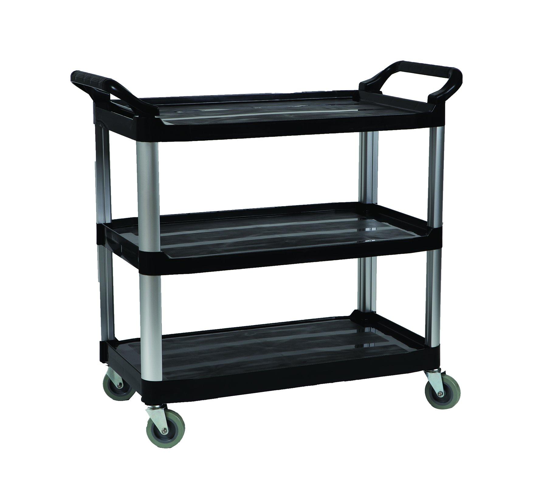 O'Cedar Commercial 96995 Food Service Cart, 3 Shelves