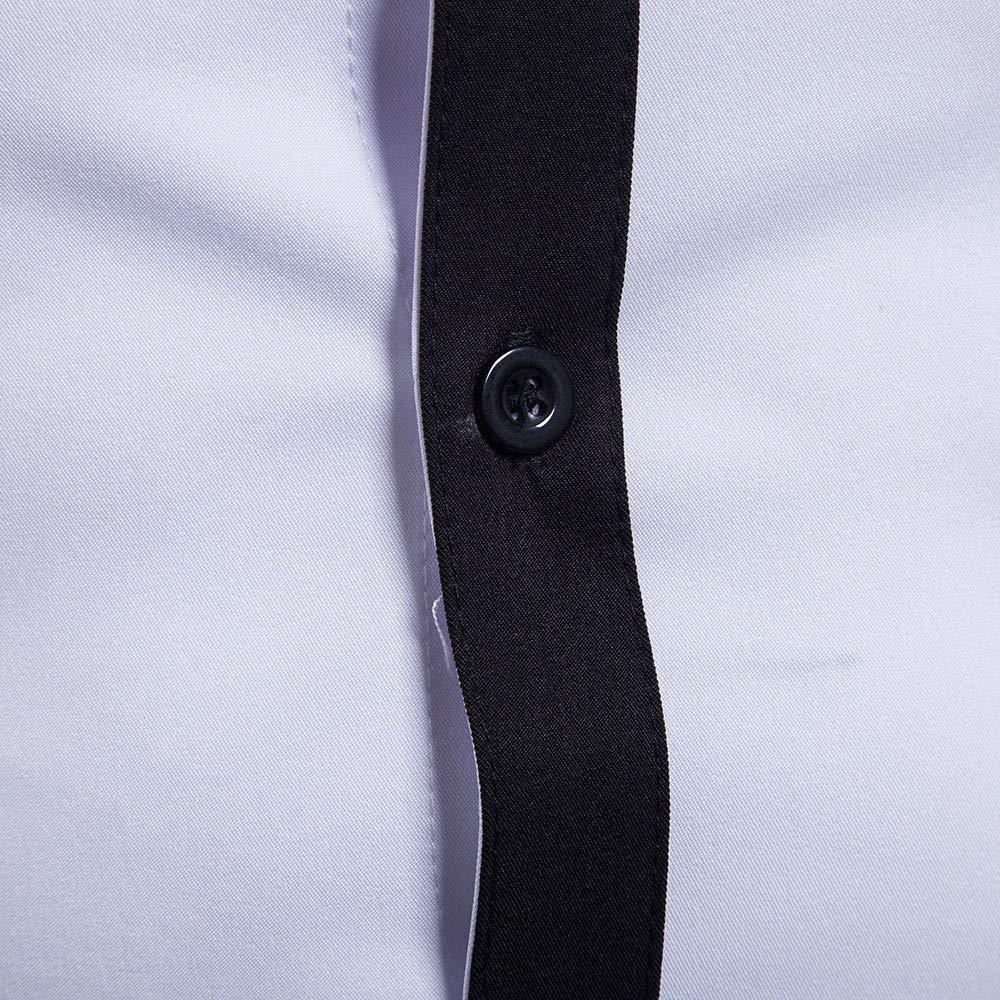 MORCHAN Automne Chemises Hommes Chemise /à Manches Longues Patchwork Chemise Haut Chemisier