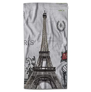 Amazon.com: Moslion Paris Bath Towel France Eiffel Tower ...
